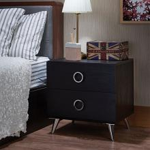Acme 97338 Elms black finish wood 2 drawer nightstand bed side end table