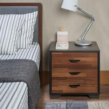 Acme 97340 Eloy walnut / espresso finish wood 3 drawer nightstand bed side end table