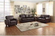 Homelegance HE-9734DB-SL 2 pc rubin dark brown bonded leather sofa and love seat set