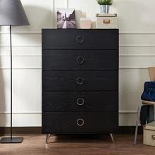 Acme 97374 Elms black finish wood 5 drawer bedroom chest