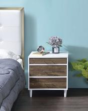 Acme 97551 Lurel white / weathered oak finish wood 3 drawer nightstand bed side end table