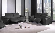 9762GY-2PC 2 pc Orren ellis florence gray italian leather power reclining sofa and love seat adjustable headrests