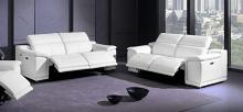 9762WH-2PC 2 pc Orren ellis florence white italian leather power reclining sofa and love seat adjustable headrests