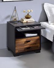 Acme 97960 Latitude run mccallum milosh espresso finish wood two tone nightstand bed side end table