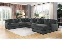 Homelegance 9857DG-5PC 5 pc Worchester dark gray chenille fabric modular sectional sofa