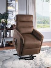 Homelegance 9868BRW-1LT City elves brown microsuede power lift recliner with massage and heat