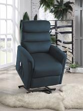 Homelegance 9868BUE-1LT City elves blue microsuede power lift recliner with massage and heat