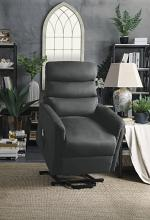 Homelegance 9868GRY-1LT City elves grey microsuede power lift recliner with massage and heat