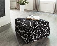 990995 Carbon loft stekel black/white fabric bedroom ottoman footstool bench