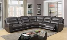GU-9917BR-6PC 6 pc Latitude run restin brown leather aire reclining sectional sofa set