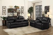 Homelegance HE-9928BLK-SL 2 pc Clarkdale black bi-cast vinyl sofa and love seat set recliner ends