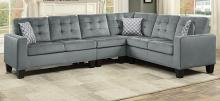 Homelegance 9957GY-SC 2 pc Winston porter lantana gray fabric reversible sectional sofa set