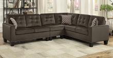 Homelegance 9957CH-SC 2 pc Winston porter lantana chocolate fabric reversible sectional sofa set