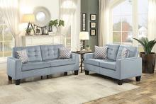 Homelegance HE-9957GY-SL 2 pc Lantana gray fabric sofa and love seat set nail head trim