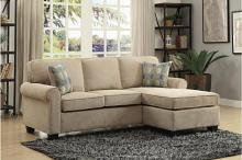 Homelegance HE-9967-3SC 2 pc clumber sand textured fabric reversible chaise sectional sofa