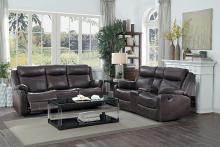 Homelegance HE-9990DB-SL 2 pc Yerba dark brown polished microfiber sofa and love seat lay flat recliner ends