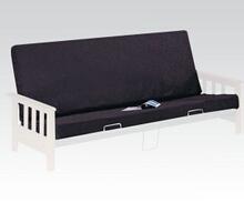 "Alfonso black on black 6"" thick full size futon mattress pad"