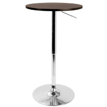 Height Adjustable Bar Contemporary Table in Brown