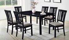 Alex-7PC 7 pc Latitude run cliett alex espresso finish wood dining table set