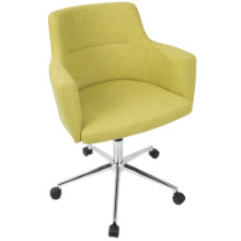 Andrew Contemporary Adjustable Office Chair in Citrus Green