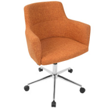 Andrew Contemporary Adjustable Office Chair in Orange