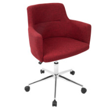 Andrew Contemporary Adjustable Office Chair in Red