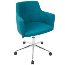 Andrew Contemporary Adjustable Office Chair in Teal