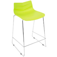 Lumisource CS-ARROW-LG2 Arrow Contemporary Counter Stool in Lime Green -Set of 2