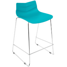 Arrow Contemporary Counter Stool in Turquoise -Set of 2