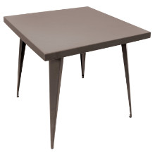 Austin Industrial Dining Table in Antique Finish