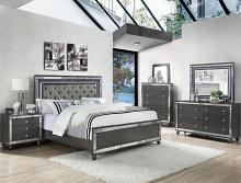 B1670 4 pc Refina metallic wood finish wood queen bedroom set with led accents