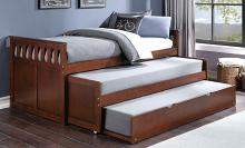 B2013RTDC-1R Darby home co orion dark cherry finish wood day bed with double pull out trundle