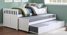 B2053RTW-1R Darby home co orion white finish wood day bed with double pull out trundle