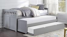 B2063RT-1R Darby home co orion gray finish wood day bed with double pull out trundle