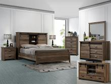 B3030 4 pc A & j designs studio calhoun multitone wood finish wood queen bedroom set