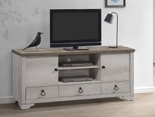 B3050-7 Darby home co patterson two tone natural rustic finish wood tv stand console