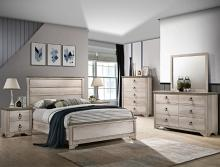 B3050 4 pc A & J homes studio patterson rustic weathered finish wood queen bedroom set
