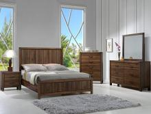 B3100-WD 4 pc A & J Homes studios belmont rustic brown finish wood queen bedroom set