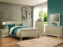 B3450 4 pc Louis Philip champagne finish wood sleigh queen bedroom set