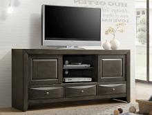 B4270-7 Darby home co emily dark gray finish wood tv stand console with drawers