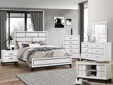 B4610 4 pc A & J Homes studio Akerson philip chalk panel look wood grain queen bedroom set