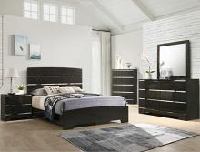 B4830 4 pc A & j designs studio chantal dark wood finish wood queen bedroom set