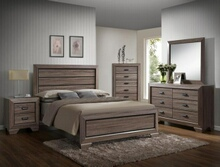 5 pc farrow medium finish wood with wood grain look queen bedroom set