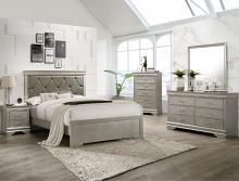B6910 4 pc A & j designs studio amalia champagne wood finish wood queen bedroom set