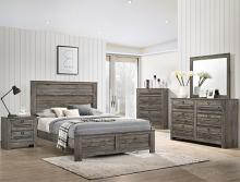B6960 4 pc A & J homes studio Bateson reclaimed grey weathered finish wood queen bedroom set