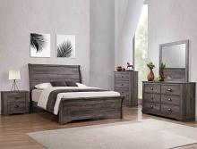B8100 4 pc A & J homes studio paterno grey weathered finish wood queen bedroom set