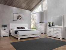 B8260 4 pc A & J Homes studios white sands antique rustic wood finish queen bedroom set