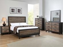 B8270 4 pc Tacoma two tone finish wood queen bedroom set