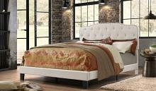 B88 Charlton home castalina beige linen fabric nail head trim tufted queen bed set