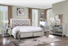 Acme BD00242Q-4PC 4 pc Astoria grand Sliverfluff champagne finish wood faux leather LED queen bedroom set
